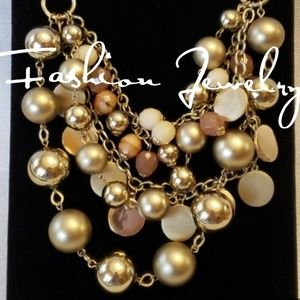 Jewelry - Gold Tone Layered Bib Necklace